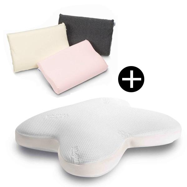 【送料無料】Tempur オンブラシオピロー ホワイト + スムースピローケースセット (アイボリー) [テンピュール 枕]