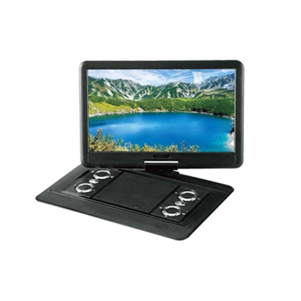 【送料無料】VERTEX PDVD-V0161 ブラック [16インチ ポータブルDVDプレーヤー] 100万画素デジタルディスプレイ カーアダプター付き HDMI入力端子搭載 高画質 大画面 ゲームモニター