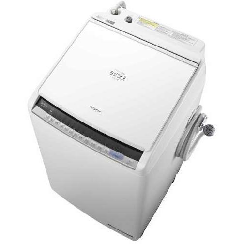 【送料無料】日立 BW-DV80C(W) ホワイト ビートウォッシュ [洗濯乾燥機(8.0kg)]