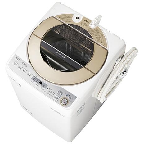シャープ(SHARP) [全自動洗濯機(9kg)] ES-GV9C ゴールド系 インバーター制御で深夜・早朝でも静か 洗濯槽洗浄 大きくて使いやすい洗剤ケース 業界最高水準の節水 サイクロン洗浄 黒カビ抑制ステンレス槽 ふろ水ポンプ 10分洗濯 部屋干し ほぐし運転 ガンコ汚れ