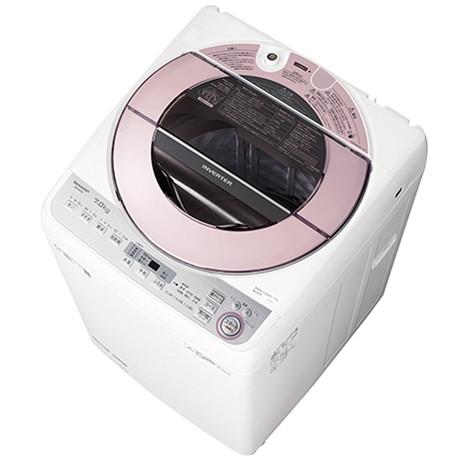 【送料無料】シャープ(SHARP) [全自動洗濯機(7kg)] ES-GV7C ピンク系 インバーター制御で深夜・早朝でも静か 洗濯槽洗浄 大きくて使いやすい洗剤ケース 業界最高水準の節水 サイクロン洗浄 黒カビ抑制ステンレス槽 10分洗濯 部屋干し ほぐし運転 ガンコ汚れ シワ抑え