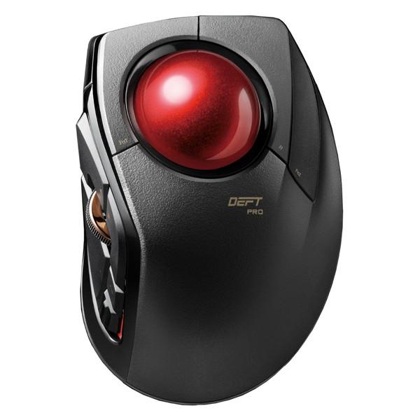 【送料無料】ELECOM M-DPT1MRBK トラックボールマウス 人差指 8ボタン チルト機能 有線 無線 Bluetooth 1000万回耐久 ブラック