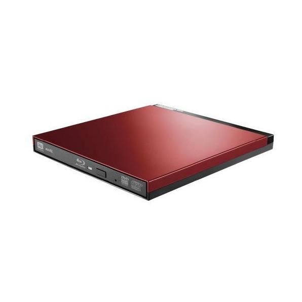 【送料無料】ロジテック LBD-PUD6U3LRD Blu-rayディスクドライブ USB3.0 スリム 書込みソフト付 レッド【同梱配送不可】【代引き不可】【沖縄・離島配送不可】