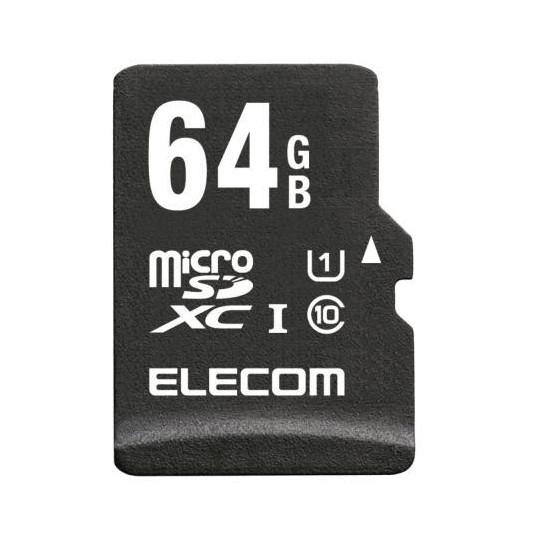 【送料無料】ELECOM MF-ACMR064GU11A microSDXCカード 高耐久 UHS-I U1 Class10 64GB