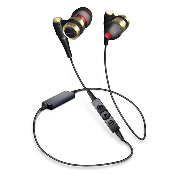 【送料無料】ELECOM LBT-HPC1000AVGD Bluetoothイヤホン HPC1000 LDAC対応 オーディオ ブラック