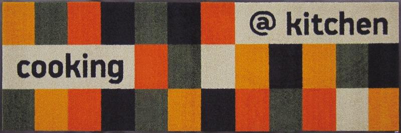 【送料無料】クリーンテックスジャパン B005C kitchen orange 60×180cm[フロアマット 玄関マット ラグ デザインマット 滑り止めマット フローリング]【離島配送不可】