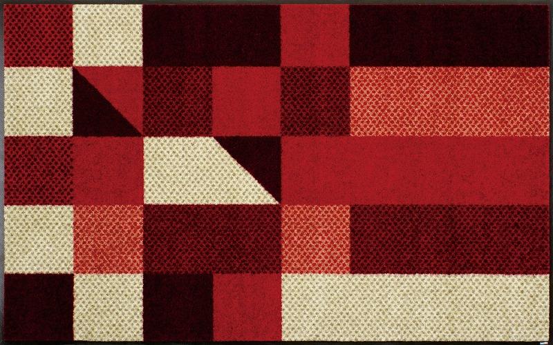 【送料無料】クリーンテックスジャパン J001B Lumina reddish 75×120cm[フロアマット 玄関マット ラグ デザインマット 滑り止めマット フローリング]【離島配送不可】