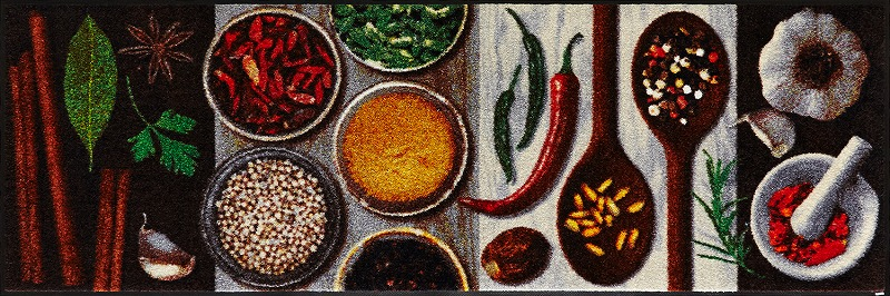 【送料無料】クリーンテックスジャパン B016C Hot Spices 60×180cm[フロアマット 玄関マット ラグ デザインマット 滑り止めマット フローリング]【離島配送不可】