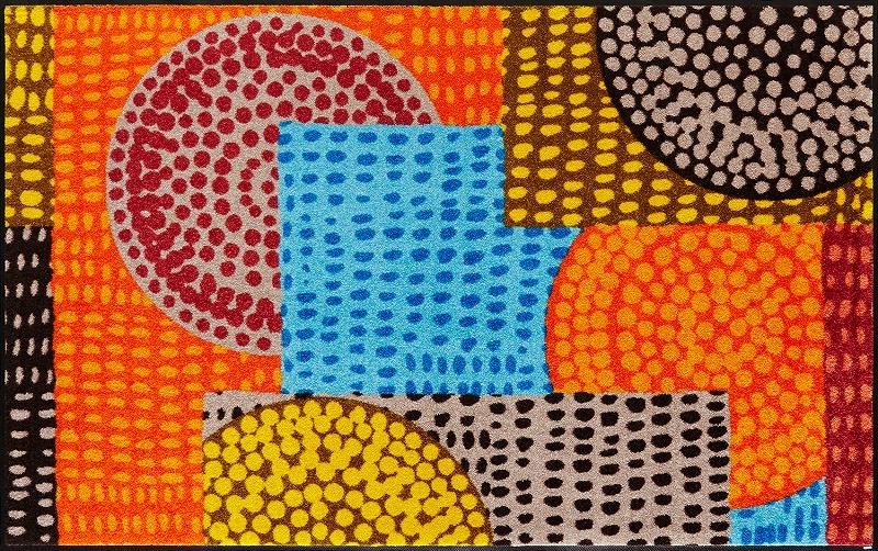 【送料無料】クリーンテックスジャパン C013I Ethno Pop 110×175cm[フロアマット 玄関マット ラグ デザインマット 滑り止めマット フローリング]【離島配送不可】