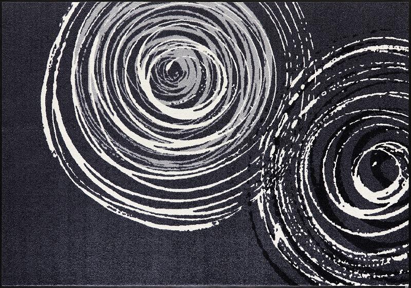 【送料無料】クリーンテックスジャパン D017K Swirl 140×200cm[フロアマット 玄関マット ラグ デザインマット 滑り止めマット フローリング]【離島配送不可】