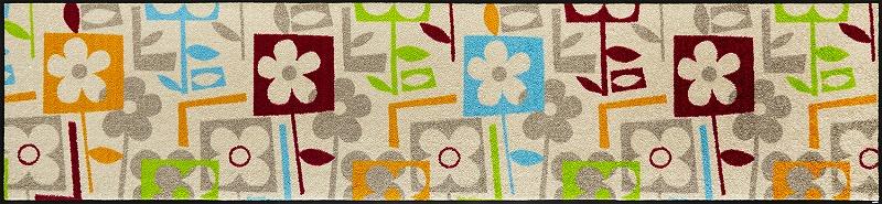 【送料無料】クリーンテックスジャパン E015F Flourish 60×260cm[フロアマット 玄関マット ラグ デザインマット 滑り止めマット フローリング]【離島配送不可】