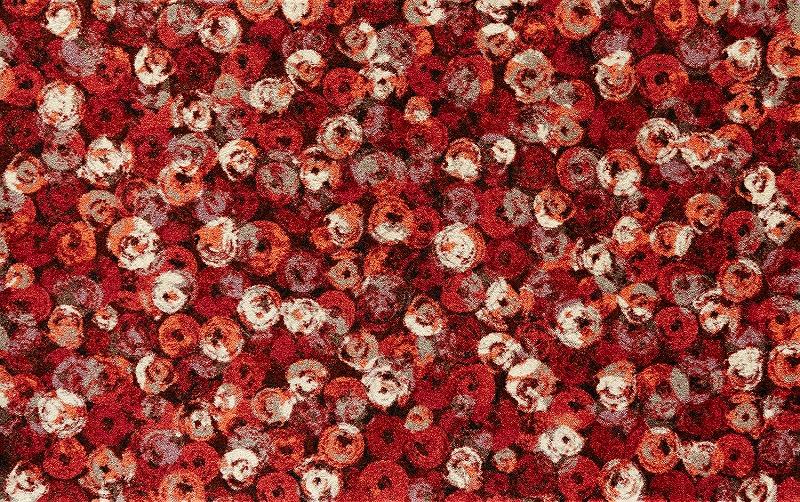 【送料無料】クリーンテックスジャパン K013I Punilla red 110×175cm[フロアマット 玄関マット ラグ デザインマット 滑り止めマット フローリング]【離島配送不可】