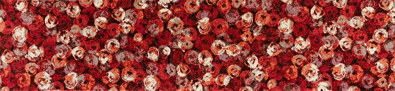 【送料無料】クリーンテックスジャパン K013F Punilla red 60×260cm[フロアマット 玄関マット ラグ デザインマット 滑り止めマット フローリング]【離島配送不可】
