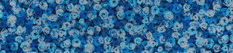【送料無料】クリーンテックスジャパン K014F Punilla blue 60×260cm[フロアマット 玄関マット ラグ デザインマット 滑り止めマット フローリング]【離島配送不可】