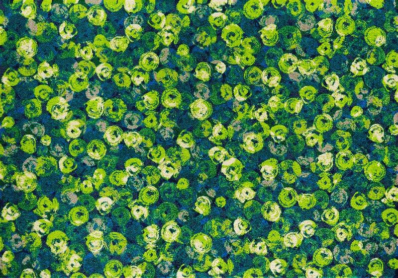 【送料無料】クリーンテックスジャパン K015K Punilla green 140×200cm[フロアマット 玄関マット ラグ デザインマット 滑り止めマット フローリング]【離島配送不可】