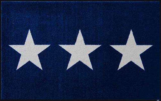【送料無料】クリーンテックスジャパン C027B Stars navy 75×120cm[フロアマット 玄関マット ラグ デザインマット 滑り止めマット フローリング]【離島配送不可】