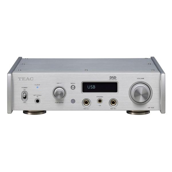 【送料無料】TEAC UD-505-S シルバー [ヘッドホンアンプ(ハイレゾ音源対応 DAC搭載)]