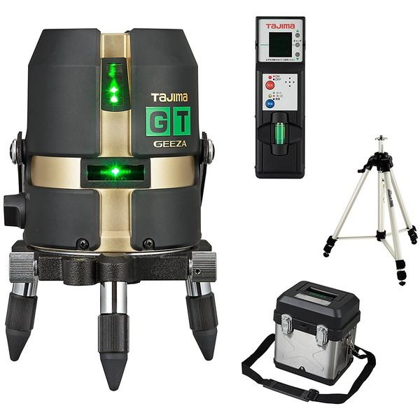 ハイパワーダイレクトグリーンレーザー タジマ GT4G-ISET [レーザー墨出し器 受光器・三脚セット(矩・横・両縦)]