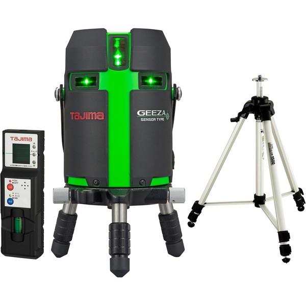 タジマ GZAS-KJCSET GEEZAセンサーKJC [レーザー墨出し器 受光器・三脚セット(矩十字・横全周)]