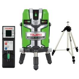 【送料無料】タジマ ZEROGS-KJCSET ゼロジーセンサーKJC [レーザー墨出し器 受光器・三脚セット(矩十字・横全周)]