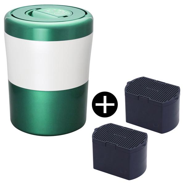 【送料無料】島産業 PCL-31-GWG グリーンストライプ パリパリキューブライト + 脱臭フィルターセット [生ごみ減量乾燥機] 生ごみ処理機 生ゴミ処理機 生ゴミ 肥料 生ごみ 臭い