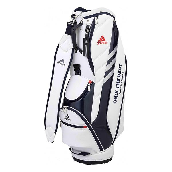 【送料無料】ADIDAS(アディダス) Adidas(アディダス) AWU38 スリムサイズキャディバッグ ホワイト 9.5型 M72079 【日本正規品】