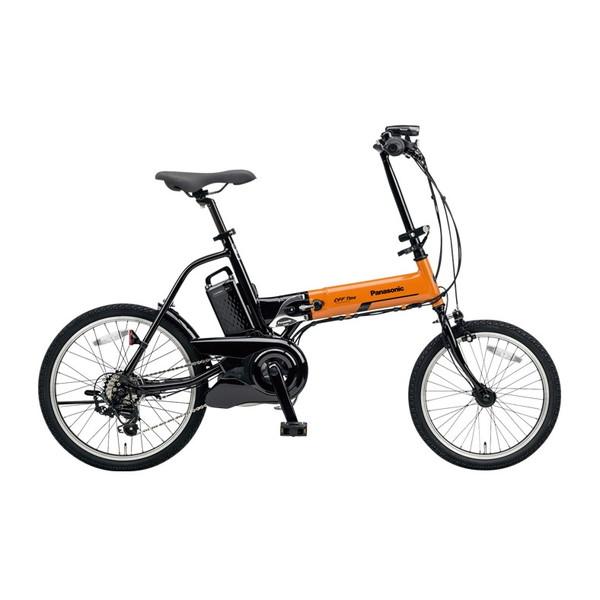 【送料無料】PANASONIC BE-ELW072A-K オレンジ×ブラック オフタイム [電動自転車(18/20インチ・外装7段変速)]【同梱配送不可】【代引き不可】【本州以外配送不可】