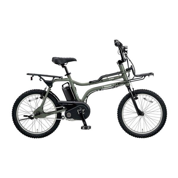 【送料無料】PANASONIC BE-ELZ032A-G マットオリーブ EZ [電動自転車(20インチ・内装3段変速)]【同梱配送不可】【代引き不可】【本州以外配送不可】