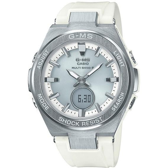 【送料無料】CASIO(カシオ) MSG-W200-7AJF シルバー×ホワイト Baby-G G-MS [ソーラー腕時計 (レディースウオッチ)]