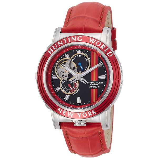 【送料無料】HUNTING WORLD ADDITIONAL TIME アディショナルタイム HW993RD レッド [自動巻き腕時計 (メンズウオッチ)]