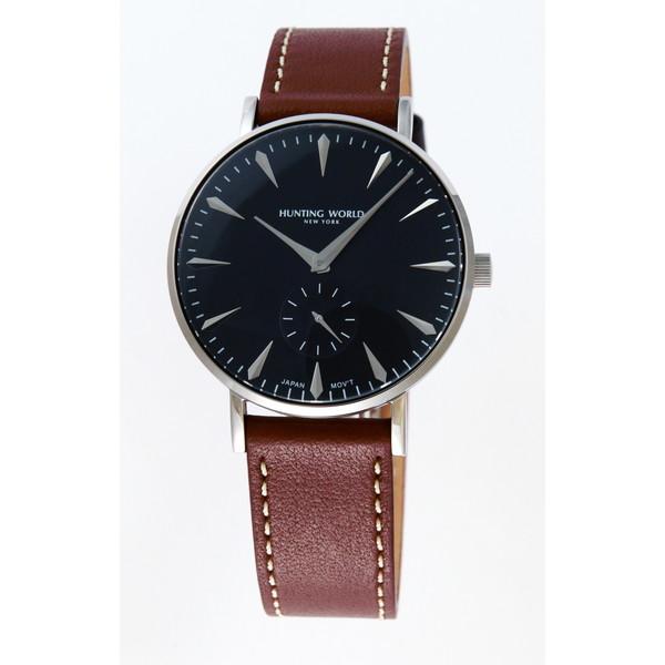 【送料無料】HUNTING WORLD AUSTERE オースティア HW950SBK ブラック×ブラウン [クォーツ腕時計 (メンズウオッチ)]
