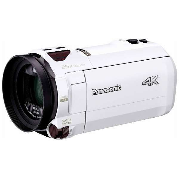 【送料無料】PANASONIC HC-VX990M-W ホワイト [デジタル4Kビデオカメラ (SD対応 64GBメモリー内蔵)]
