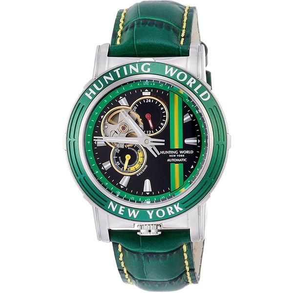 【送料無料】HUNTING WORLD ADDITIONAL TIME アディショナルタイム HW993GR グレー [自動巻き腕時計 (メンズウオッチ)]
