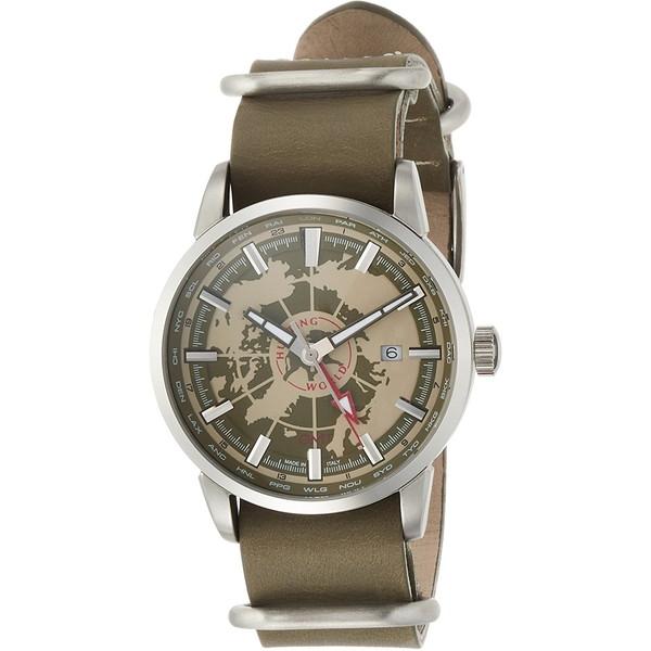 【送料無料】HUNTING WORLD SOUVENIR スーブニール HW027KH カーキ [クォーツ腕時計 (メンズウオッチ)]