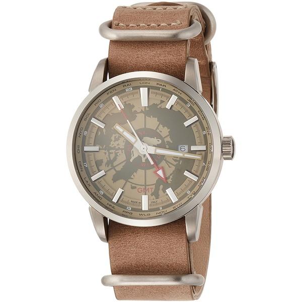 【送料無料】HUNTING WORLD SOUVENIR スーブニール HW027BE ベージュ [クォーツ腕時計 (メンズウオッチ)]