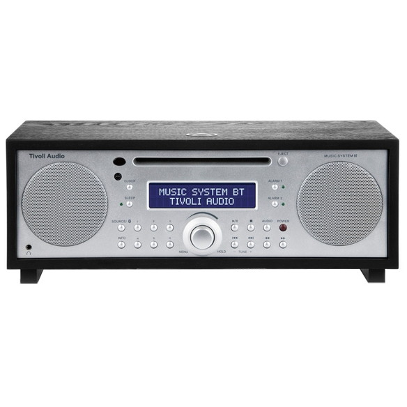 Tivoli Audio MSYBT-1775-JP Tivoli Music System BT Black/Silver [Bluetooth対応ミニコンポ] MSYBT1775JP