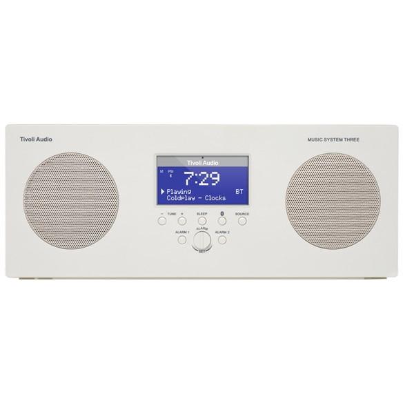 【送料無料】Tivoli Audio MSY3-1759-JP Tivoli Music System 3 Gloss White [Bluetoothワイヤレスクロック AM/FMラジオステレオスピーカー]