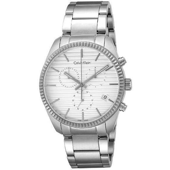 【送料無料】Calvin Klein(カルバンクライン) K5R37146【並行輸入品】 ホワイト×シルバー ALLIANCE(アライアンス) [クォーツ腕時計 (メンズウオッチ)]【並行輸入品】, オリバーソース:35801a04 --- sunward.msk.ru