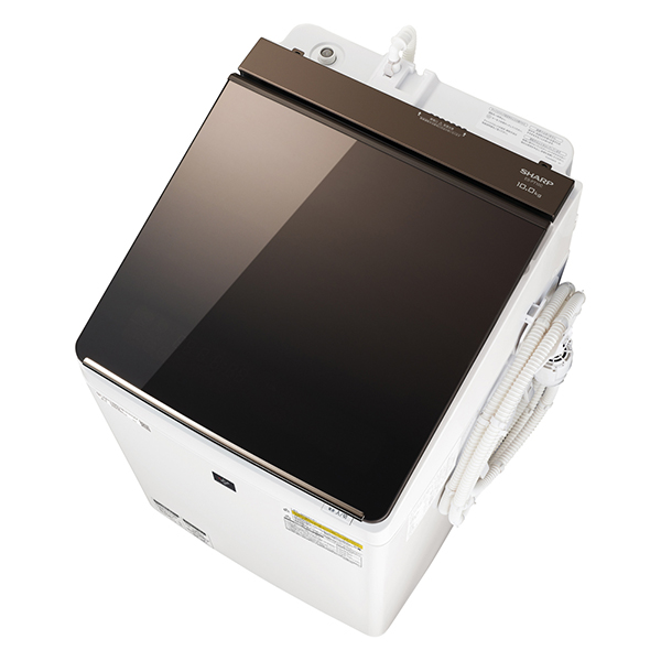 【送料無料 ホワイト】洗濯機 シャープ SHARP ES-PT10C 乾燥5kg 白 ホワイト ブラウン ES-PT10C おしゃれ 洗濯10kg 乾燥5kg 光るタッチナビ, 西桂町:d88a7bc1 --- sunward.msk.ru