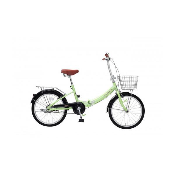 【送料無料】TOP ONE FCU200-68-LG ライトグリーン [折りたたみ自転車(20インチ)]【同梱配送不可】【代引き不可】【沖縄・北海道・離島配送不可】