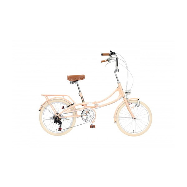 ペールオレンジ 【同梱配送不可】 [折りたたみ自転車(20インチ・6段変速)] Classical 【代引き・後払い決済不可】 【沖縄・北海道・離島配送不可】 【送料無料】 TOP ONE FLM206-76-POR
