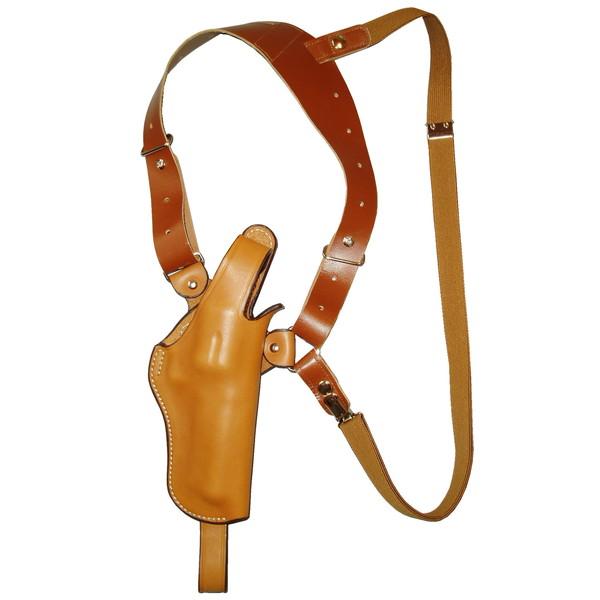【送料無料】イーストA ショルダーホルスター 牛革製 ブラウン サムブレイクタイプ リボルバー用 S232 Br