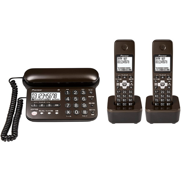 【送料無料】PIONEER TF-SD15W-TD ダークブラウン [デジタルコードレス留守番電話機(子機2台)] パイオニア pioneer