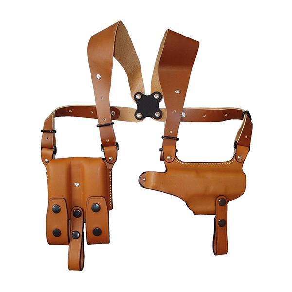 【送料無料】イーストA ショルダーホルスター 牛革製 ブラウン グロック用285 Br
