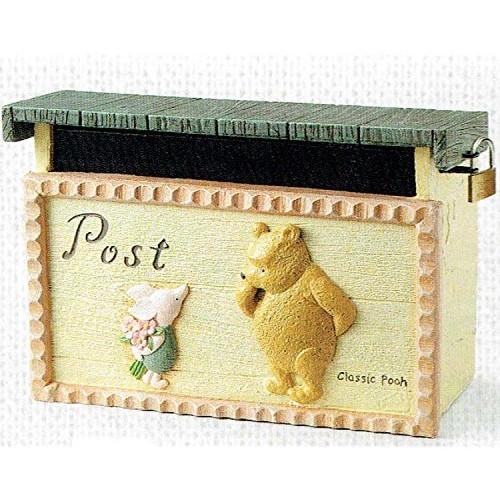 【送料無料】ポスト ディズニー くまのプーさん セトクラフト SD-5501 メールボックス 郵便ポスト DYI 組立式 南京鍵付き 新築祝いや引越し祝いにおすすめ