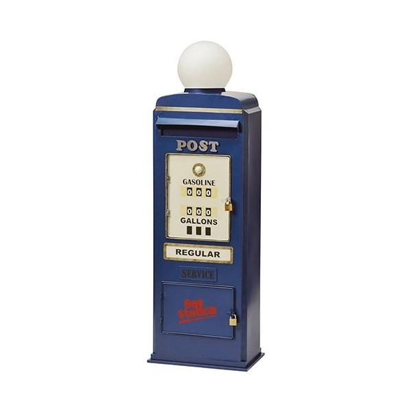 【送料無料】セトクラフト SI-2858-BL ブルー GAS PUMP [スタンドポスト]【同梱配送不可】【代引き不可】【沖縄・北海道・離島配送不可】