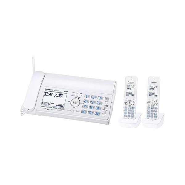 【送料無料】PANASONIC KX-PD305DW-W ホワイト おたっくす [デジタルコードレス普通紙FAX 子機2台付]