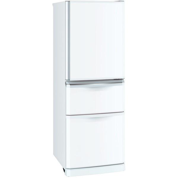 【送料無料】MITSUBISHI MR-C34C-W パールホワイト [冷蔵庫 (335L・右開き)]