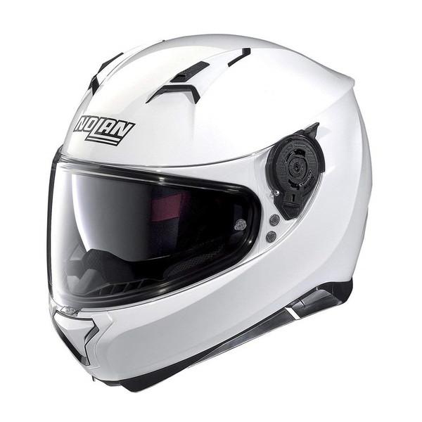 超高強度軽量素材LEXANポリカーボネートを使用した、ヨーロッパ一番人気モデル!ツーリングフルフェイスヘルメットの決定版! NOLAN D98339 メタルホワイト/5 N87 ソリッド [フルフェイスヘルメット(L)]