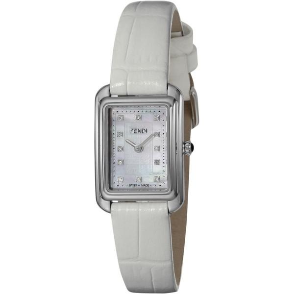 【送料無料】FENDI F702024541D1 ホワイトパール クラシコレクタンギュラー [クォーツ腕時計(レディースウオッチ)] 【並行輸入品】